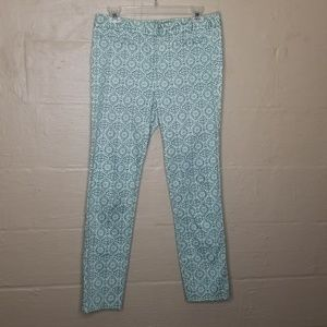 Forever 21 Green and White Printed Pants, Med